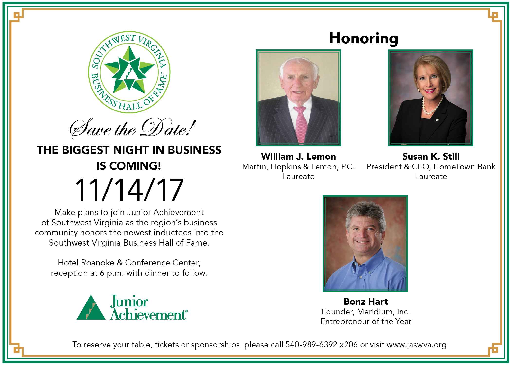 2017 JA Southwest Business Hall of Fame - Reserve your sponsorship today!