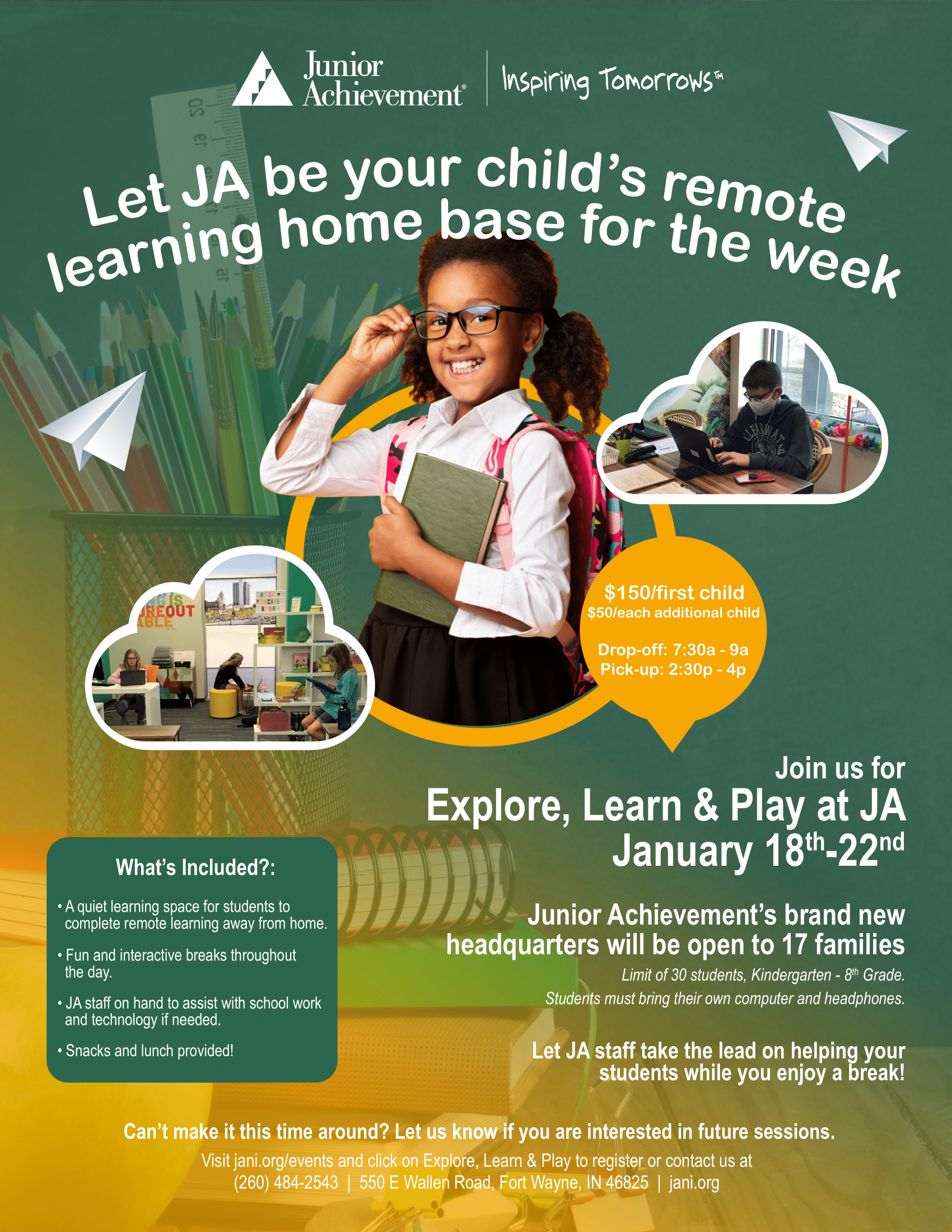 Explore, Learn & Play at JA!
