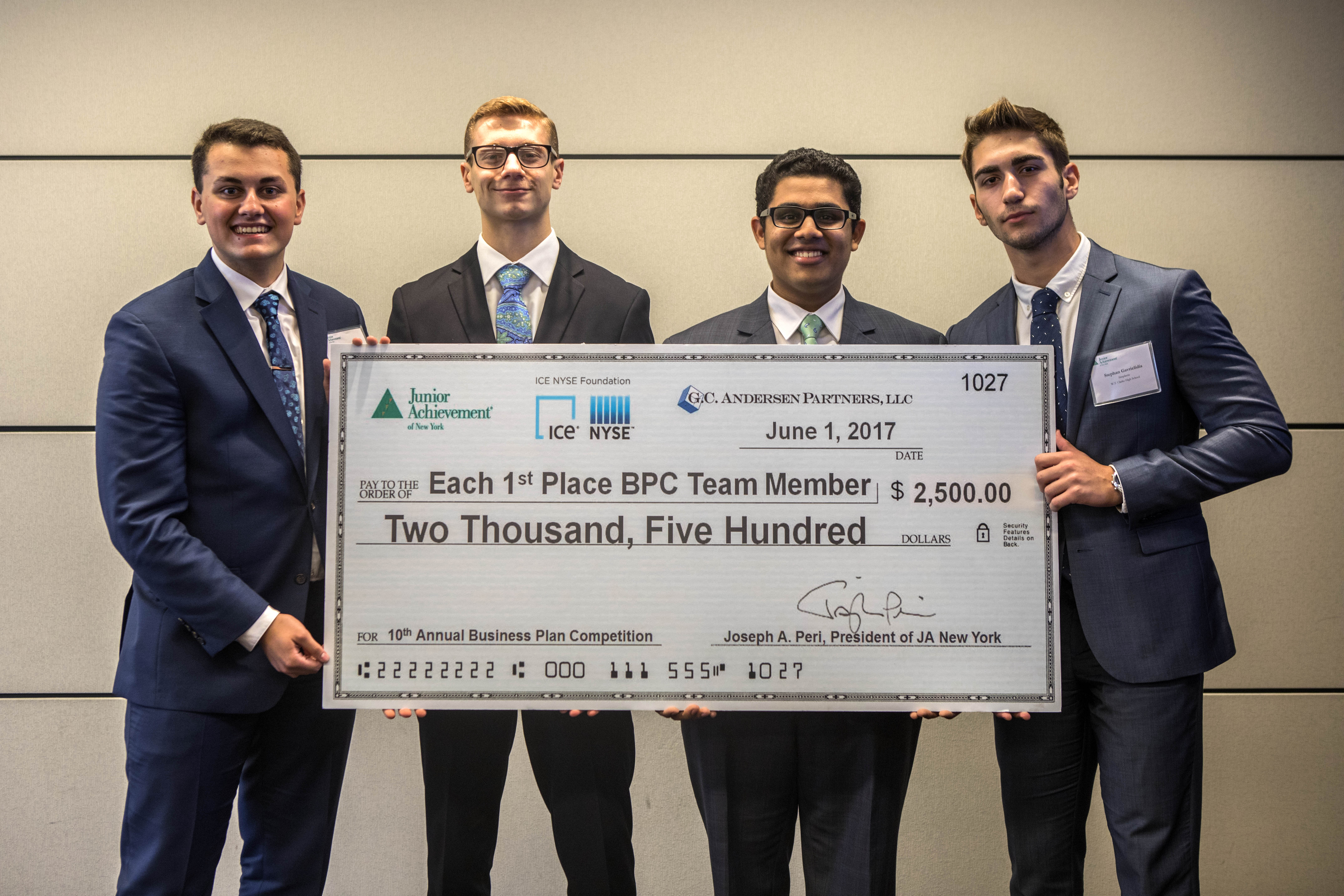 JA New York Business Plan Competition: From Classroom to Conference Room
