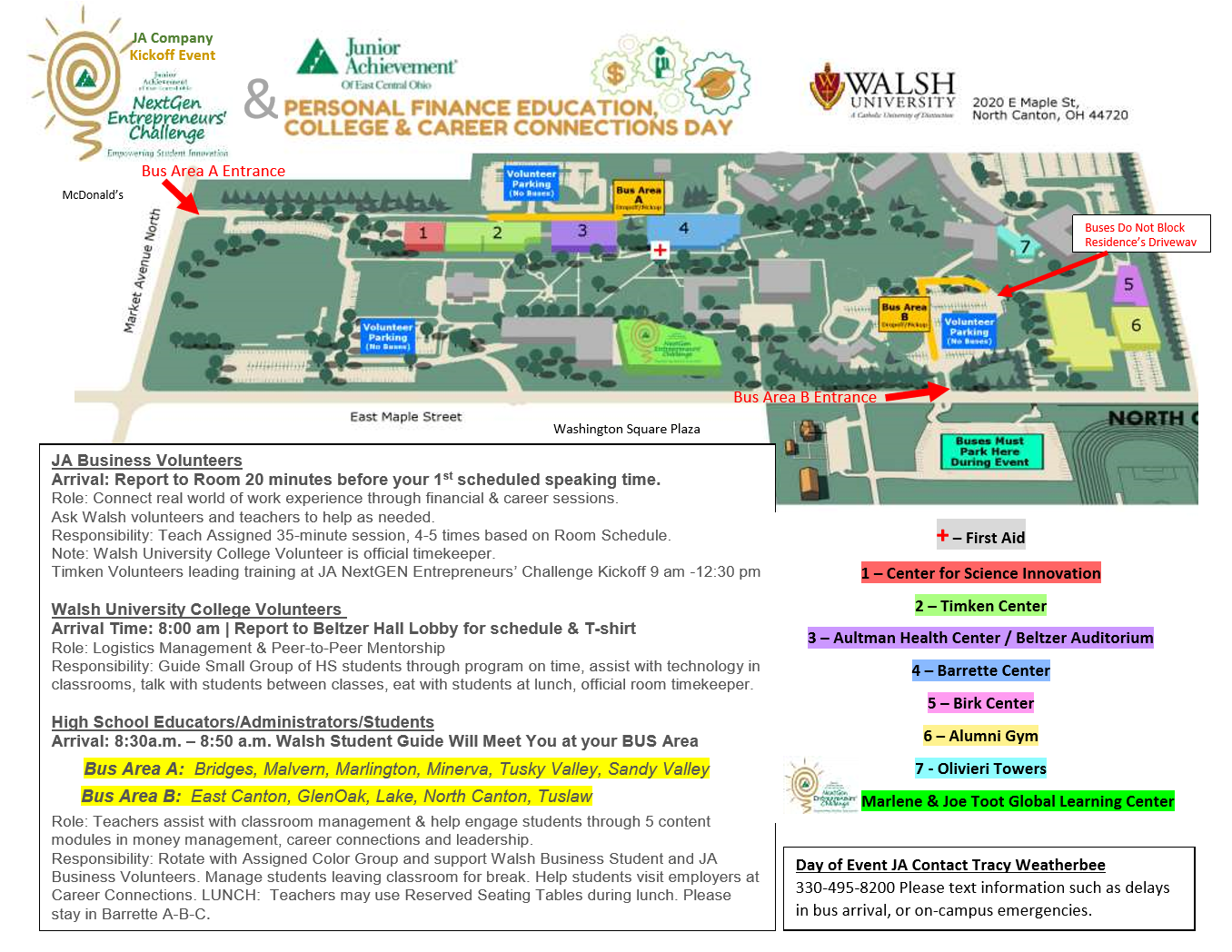 Walsh Campus Map.Ja Day At Walsh Teaching Tools Ja