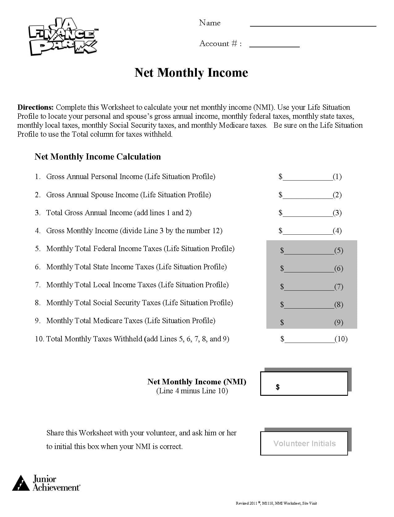 budget lessons for high school students budget forms for high school students printable. Black Bedroom Furniture Sets. Home Design Ideas