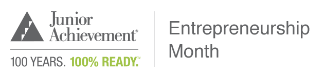 Junior Achievement Entrepreneurship Month Logo