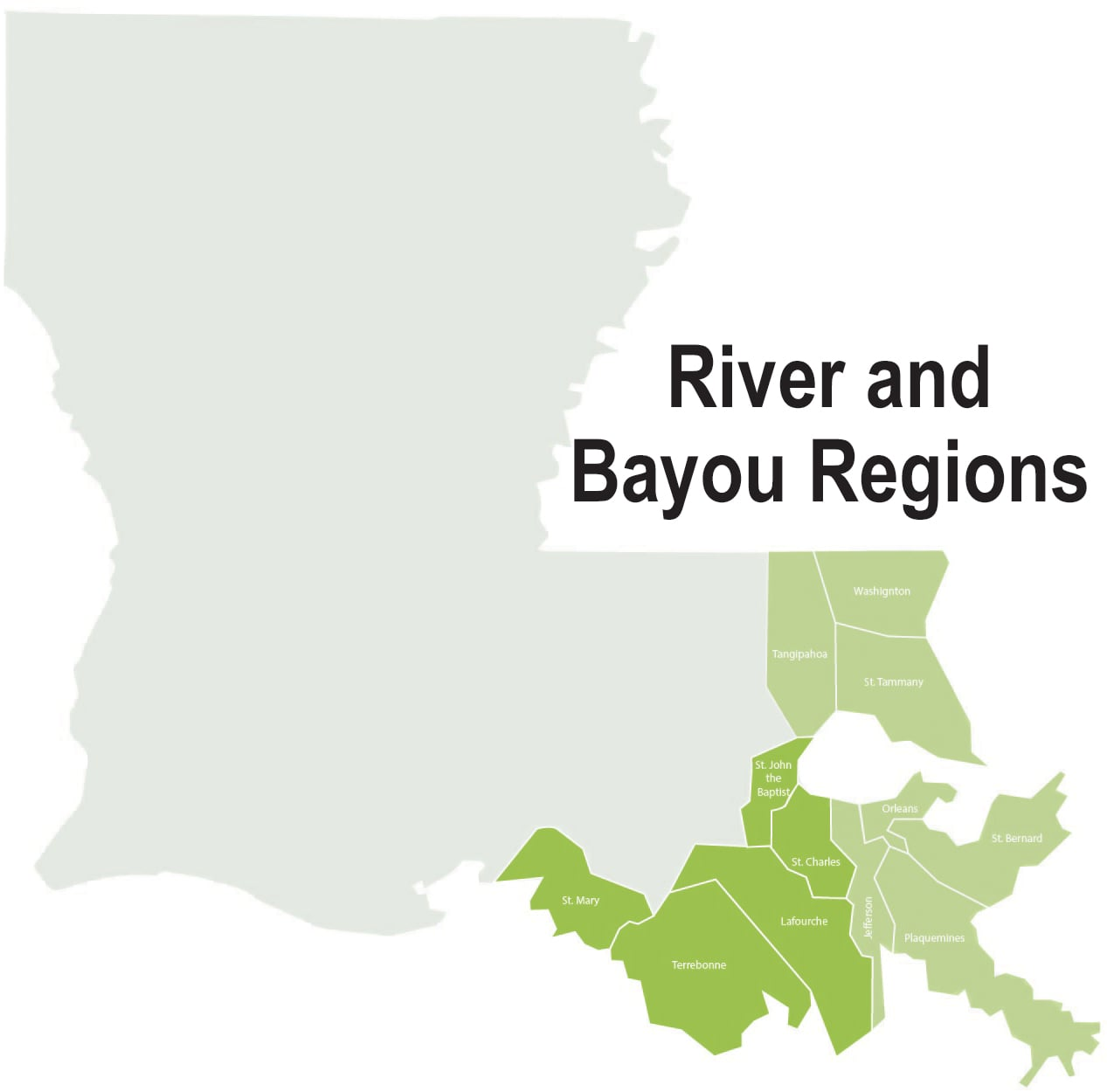 River and Bayou Regions