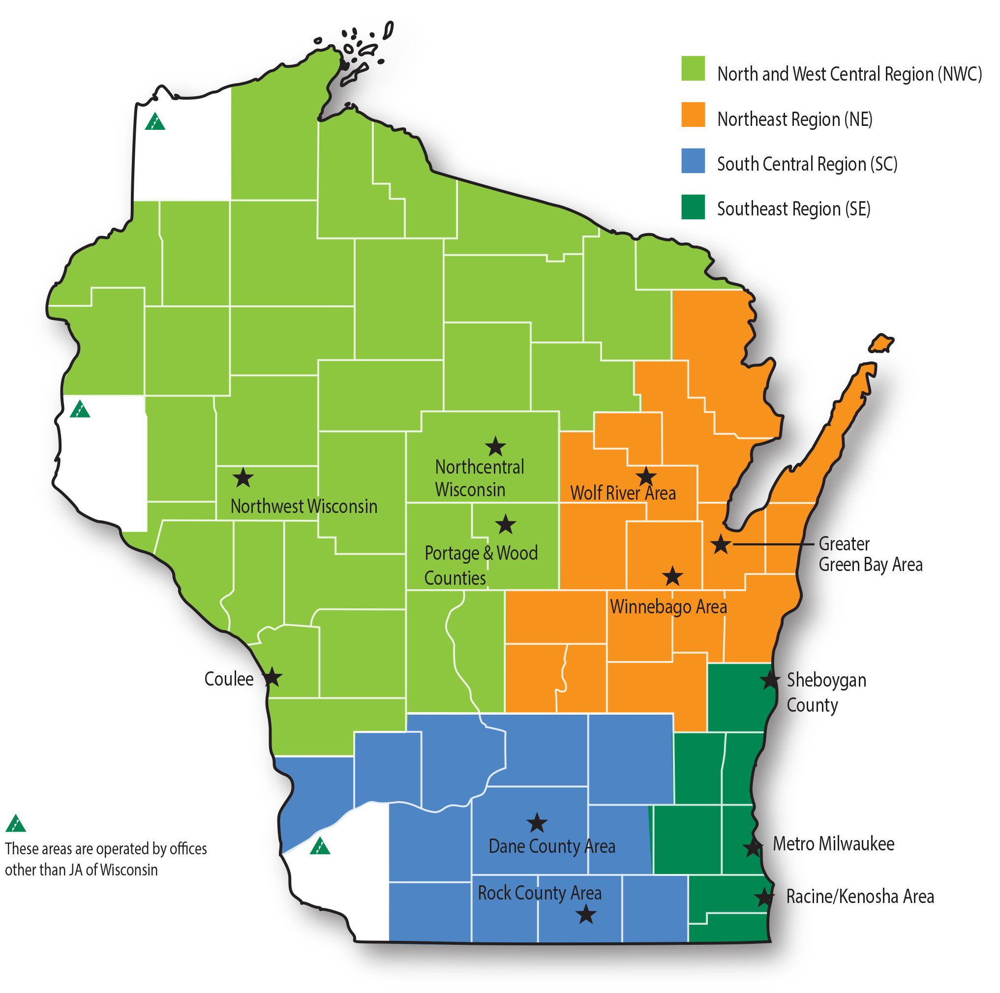 JA Wisconsin Map