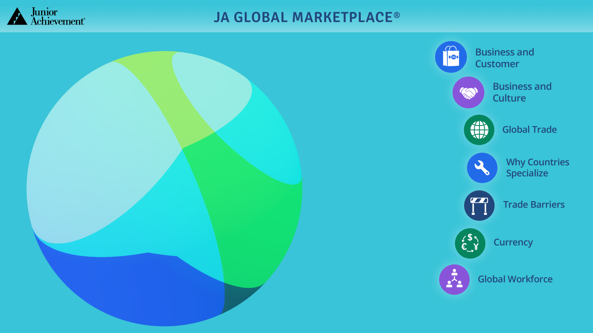 JA Global Marketplace<sup>&reg;</sup> Blended Model